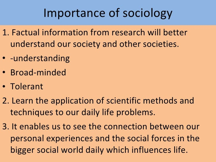 scientific methods to the study of social life sociology essay Think outside the box, against the status quo to discover the edges of our explorable world our society needs new and innovative ways to improve science.