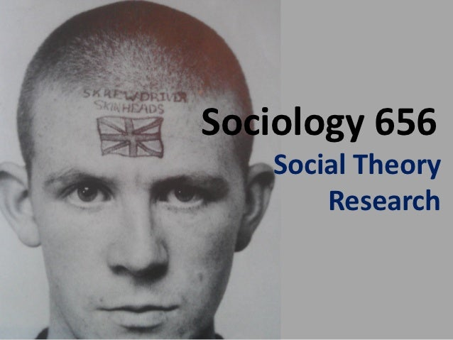 Sociology 656   Social Theory       Research