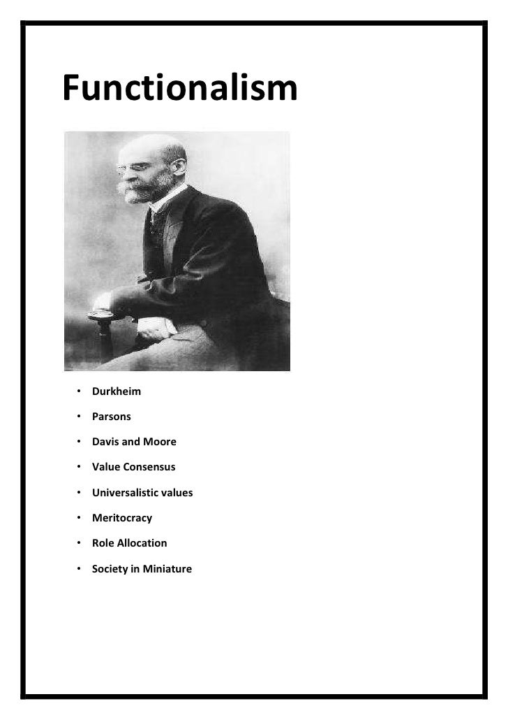 functionalist and meritocracy