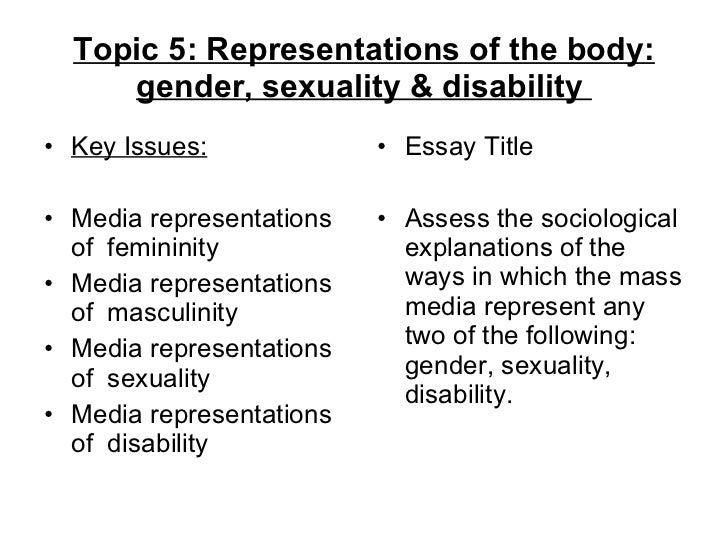 essay questions on gender issues
