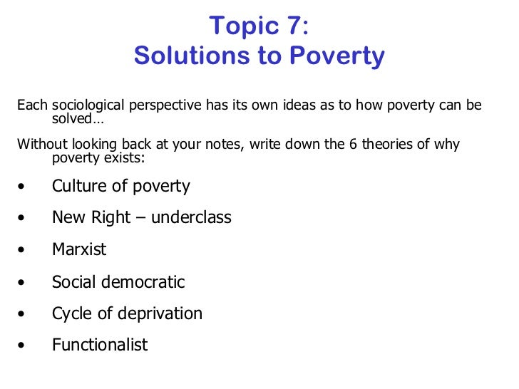 the problem of poverty essay Free essays from bartleby | education or poverty peter drucker, one of the leading business thinkers of the last century foresaw emerging trends in the.