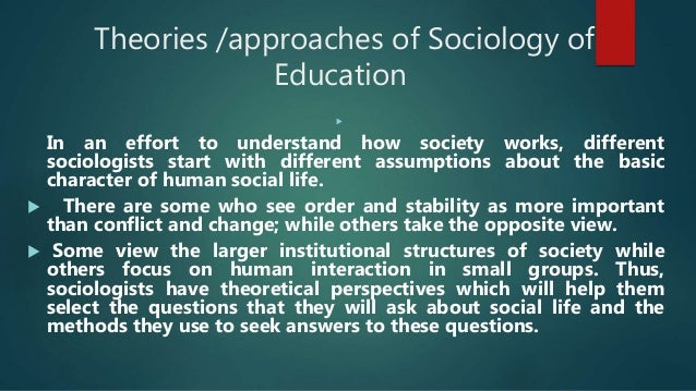 research in sociology of education