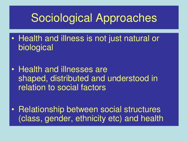 health sociology essay Sexual health is both a lay expression and a technical term defined in national and international legal and public policy documents as.