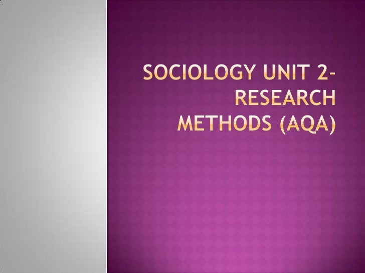 research method sociology