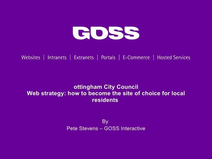 Nottingham City Council website success