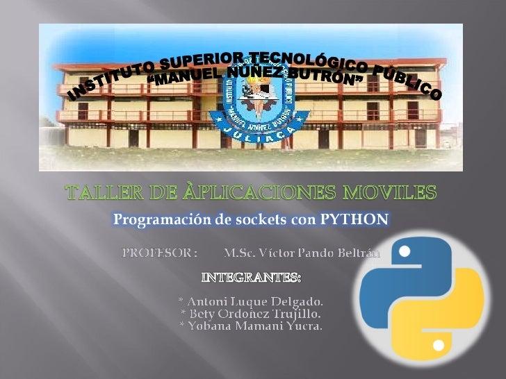 Sockets En Python Por Antoni Luque Delgado