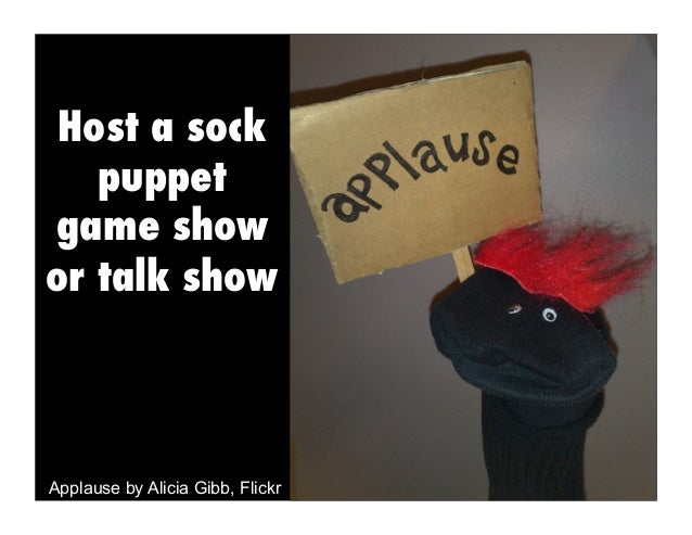 Game Socks Host a Sock Puppet Game Show