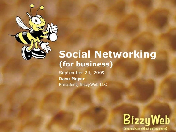 Social Networking for Business - TIE 09-24-09