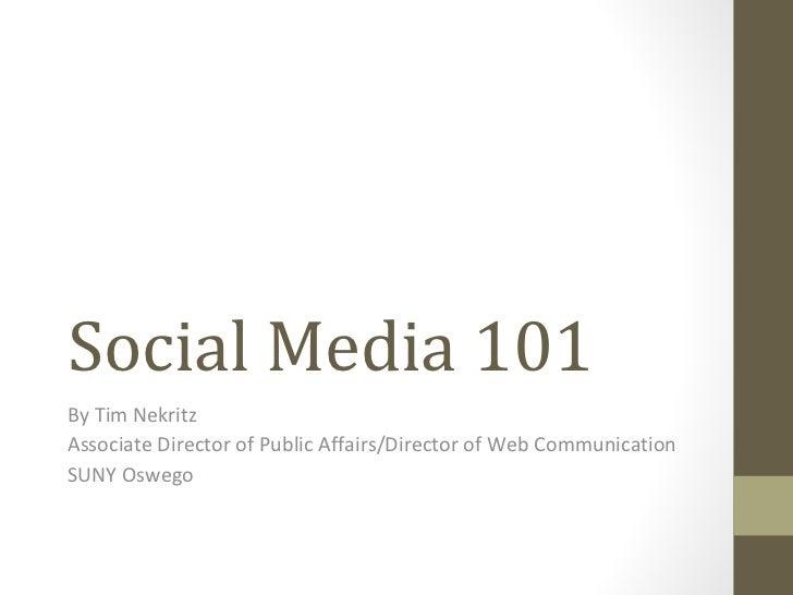 Social Media 101: For Oswego County Opportunities