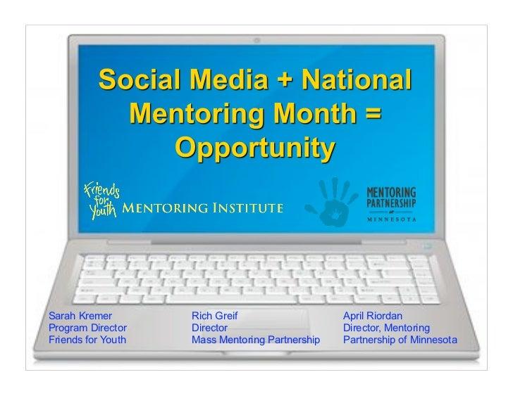 Social Media + National Mentoring Month = Opportunity