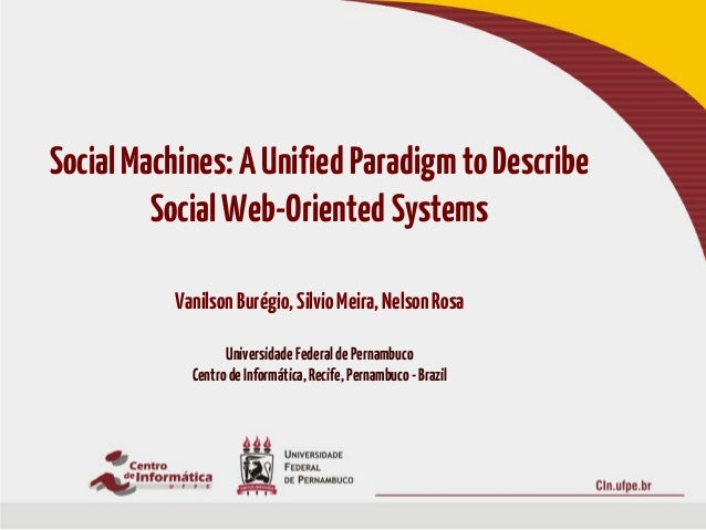 Socm_www2013: Social Machines: A Unified Paradigm to describe Web-Oriented Systems