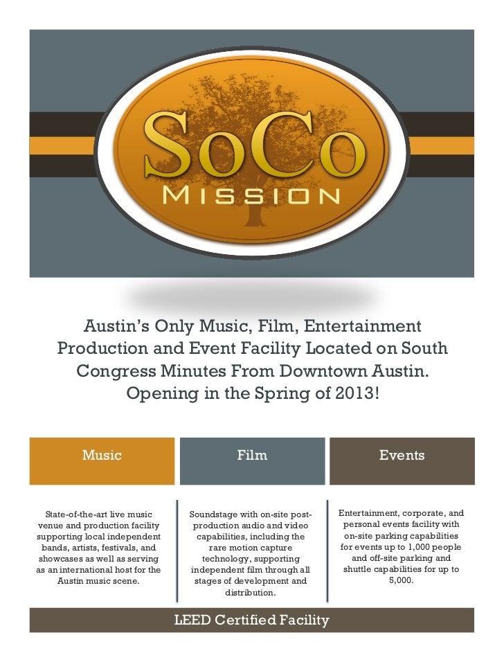 The Soco Mission press kit