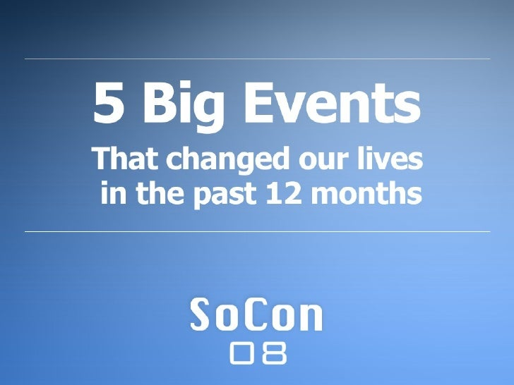 SoCon 08 Opening Presentation by Jeff Haynie