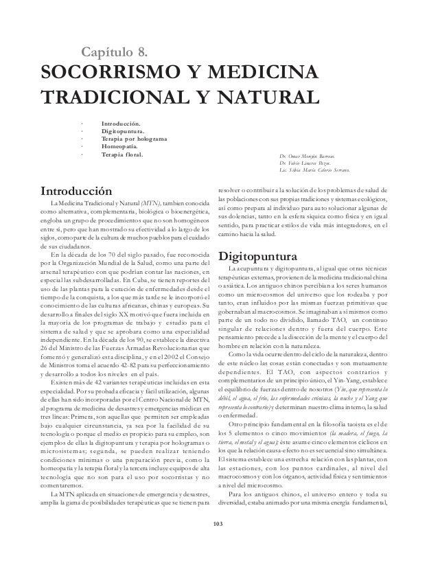 Socorrismo y la medicina natural