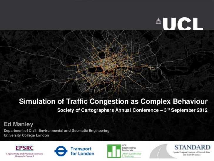 Simulation of Traffic Congestion as Complex Behaviour                             Society of Cartographers Annual Conferen...