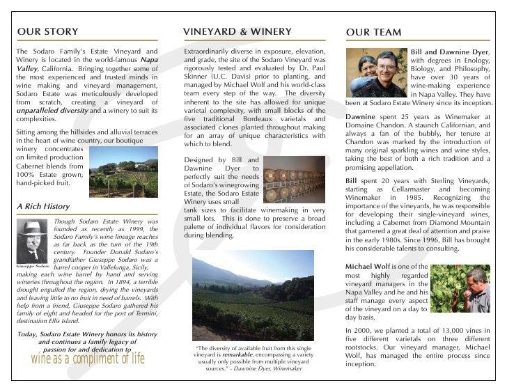 Winery Brochure