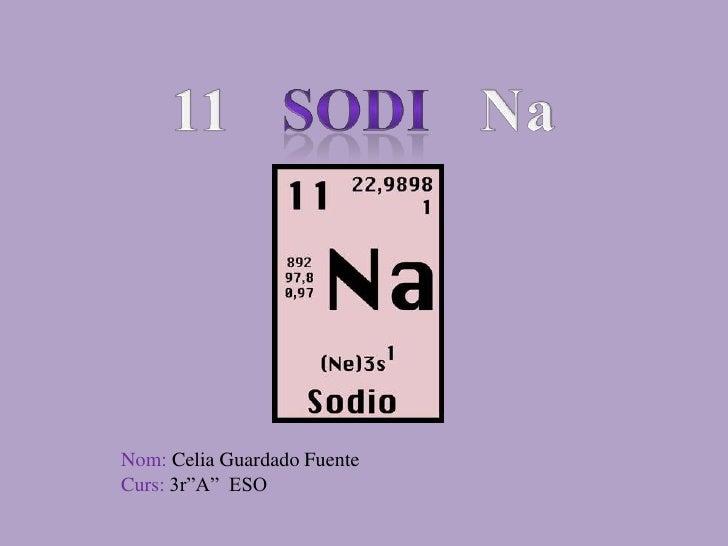 """11   SODI   Na<br />Nom: Celia Guardado Fuente<br />Curs: 3r""""A""""  ESO<br />"""