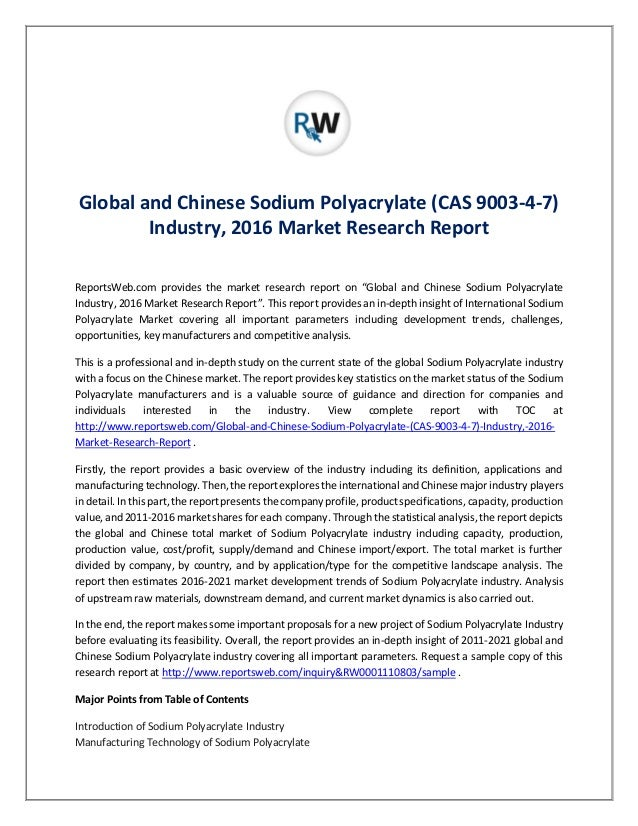 Global Sodium Hyaluronate Industry 2016 Market Research Report