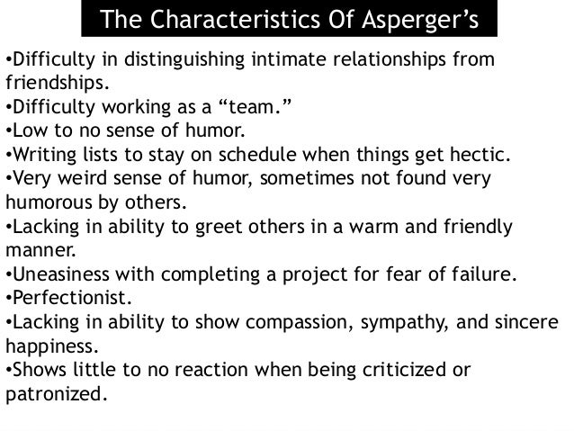 Aspergers dating difficulties