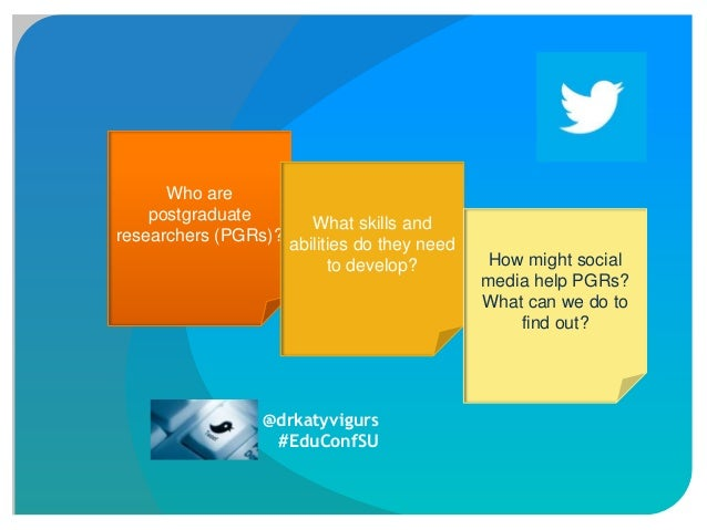 Twittering on about research: Using social media to develop doctoral researchers