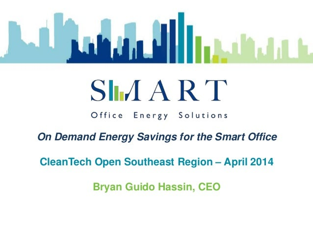 Smart OES in the CleanTech Open
