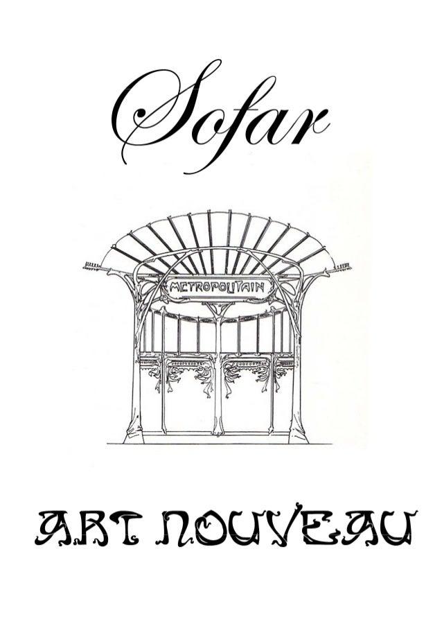 Sofar   catalogue art nouveau 2013