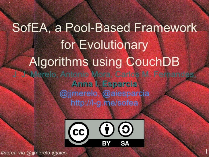 SofEA, a Pool-Based Framework for Evolutionary Algorithms using CouchDB