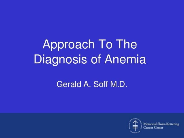 approach to the diagnosis of anemia