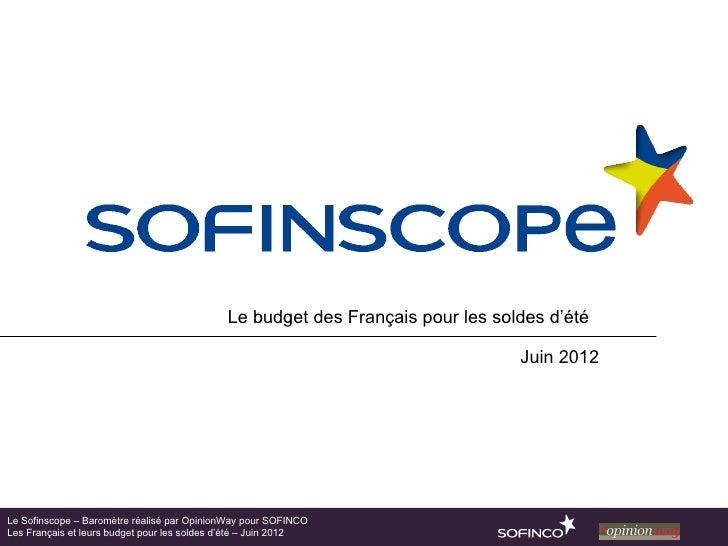 Le budget des Français pour les soldes d'été                                                                              ...
