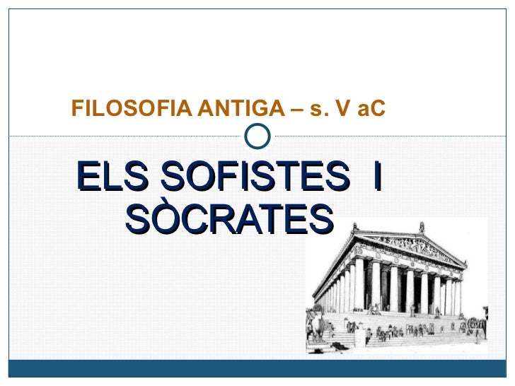 Sofistes i Sòcrates