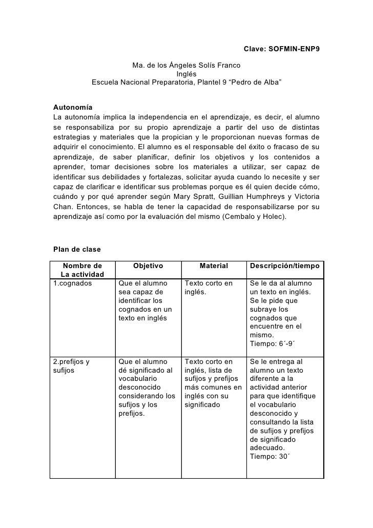Clave: SOFMIN-ENP9                            Ma. de los Ángeles Solís Franco                                        Inglé...