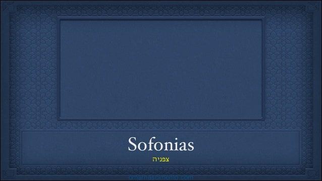 Sofonias! צפניה  omarnascimento.com