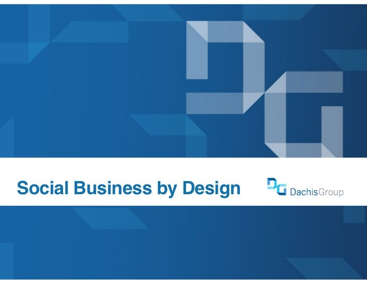 Social Business by Design