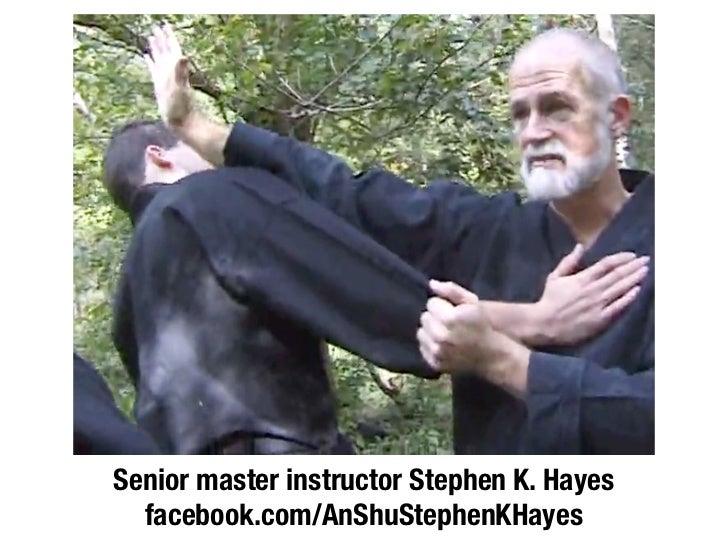 Senior master instructor Stephen K. Hayes  facebook.com/AnShuStephenKHayes