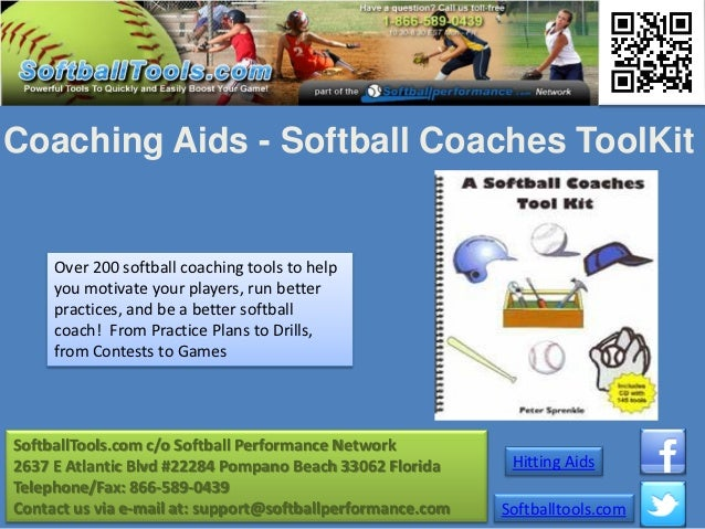 Coaching Aids - Softball Coaches ToolKit     Over 200 softball coaching tools to help     you motivate your players, run b...