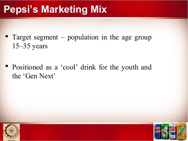 demographic factors pepsi Pepsi consumers are generally very low income, caucasian, and older age  pepsi consumers are more likely to purchase pepsi during larger pantry stocking .