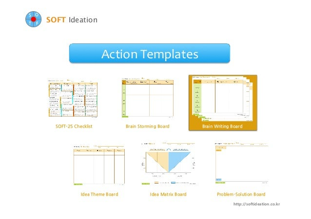 Soft ideation action templates _brain_writing_board