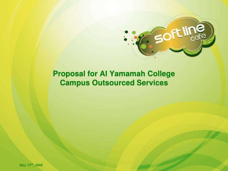 Business Proposal for Soft Line Cafe to operate at Al Yamamah University