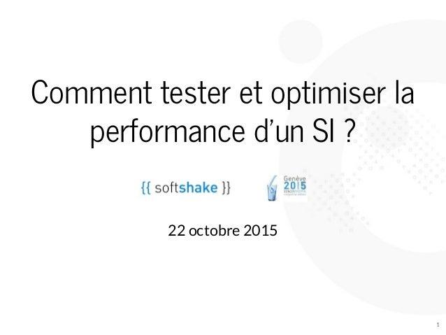 Commenttesteretoptimiserla performanced'unSI?  22octobre2015