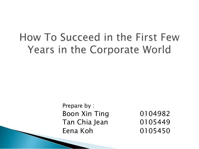 How to success in Corporate world