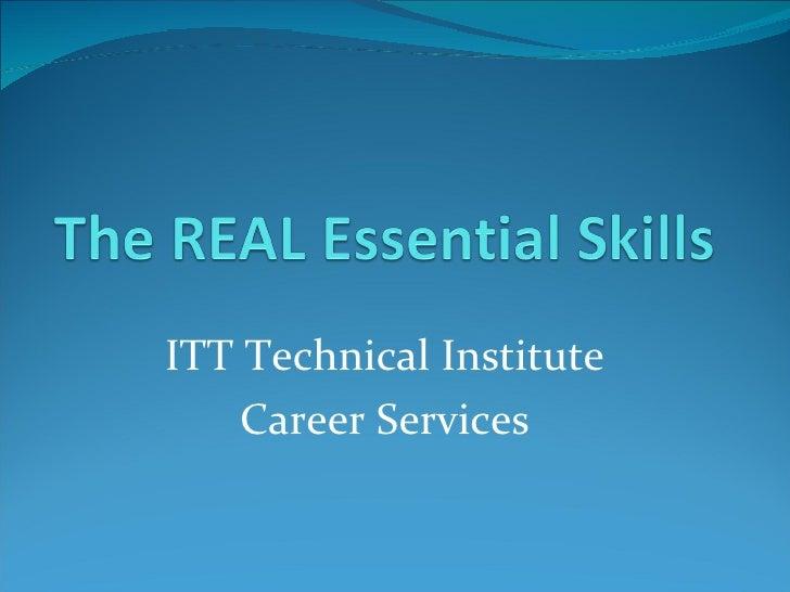 ITT Technical Institute Career Services
