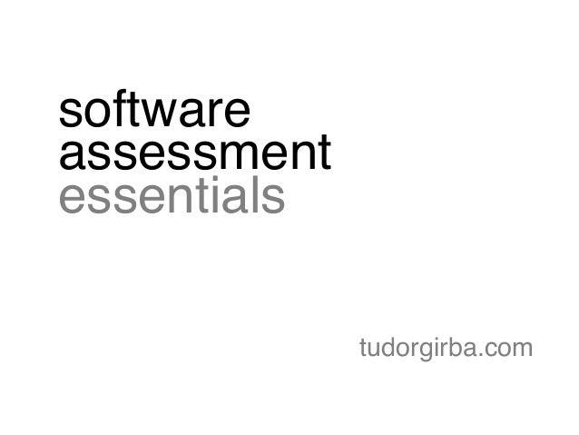 software assessment essentials tudorgirba.com