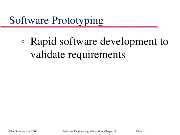 Software Prototyping in Software Engineering SE8