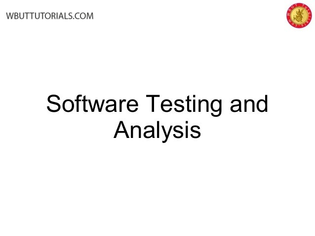 Software testing-and-analysis