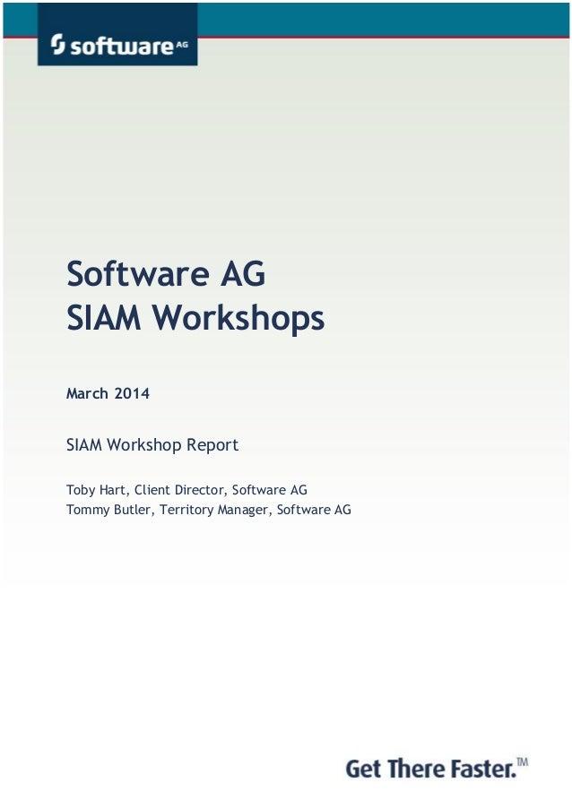 Software AG SIAM Workshop Report