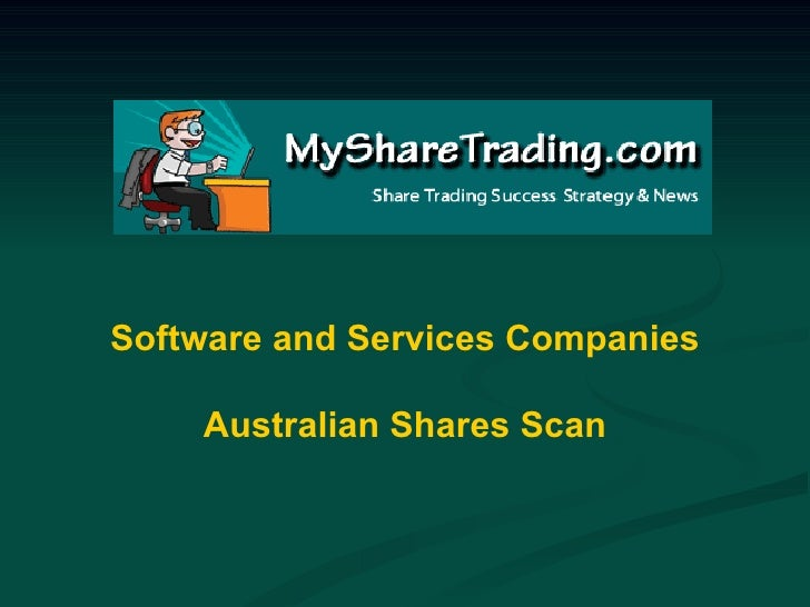Software and Services Companies Australian Shares Scan