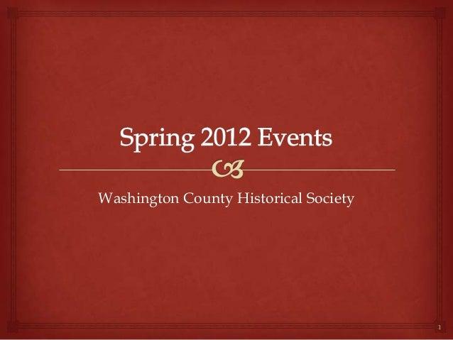 Washington County Historical Society1