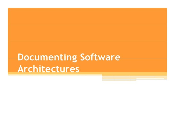 Software archiecture   lecture09