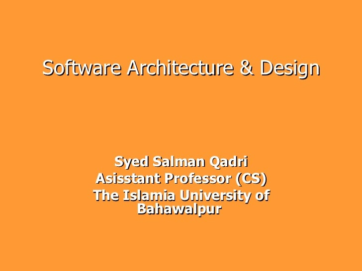 Software architecture 4