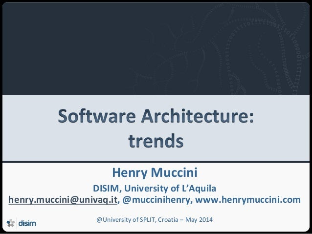 Software Architecture: Trends